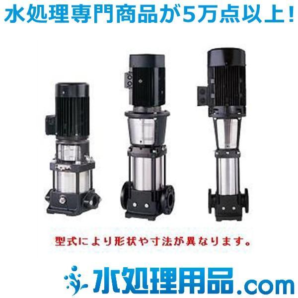 ツルミポンプ 立形多段うず巻インラインポンプ TCR型 50Hz 40mm TCR10-4