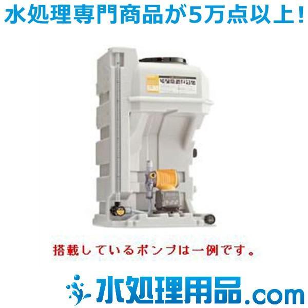 タクミナ薬液タンク PTS シリーズ DCLPW搭載 簡易リリーフ弁付き PTS-120-DCLPW-100R-ATCF-HWJ