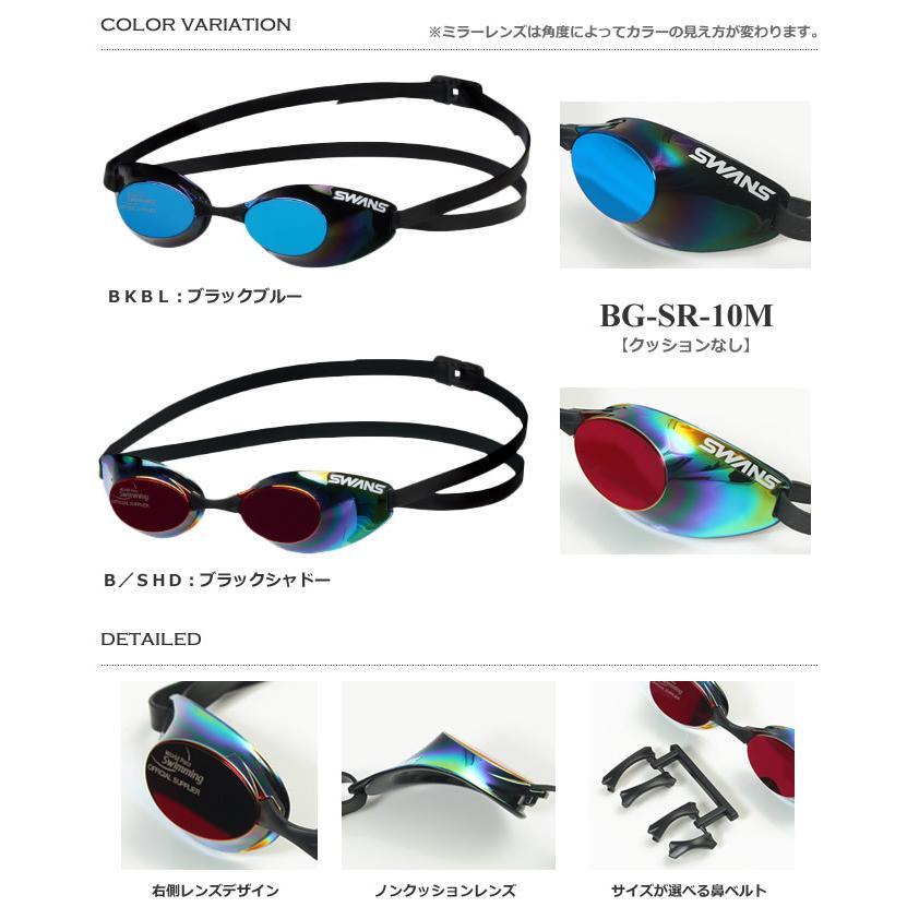 WPS公認 全盲 ・ 視覚障がいクラス 競技規則適用競泳用スイムゴーグル 水泳用  /S11クラス/ SWANS(スワンズ) BG-SRX-M/BG-SR-10M|mizugi|03