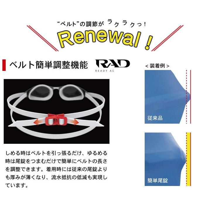 FINA承認モデル クッションあり 競泳用スイムゴーグル 水泳用 SWANS(スワンズ)  SRX-N PAF mizugi 04