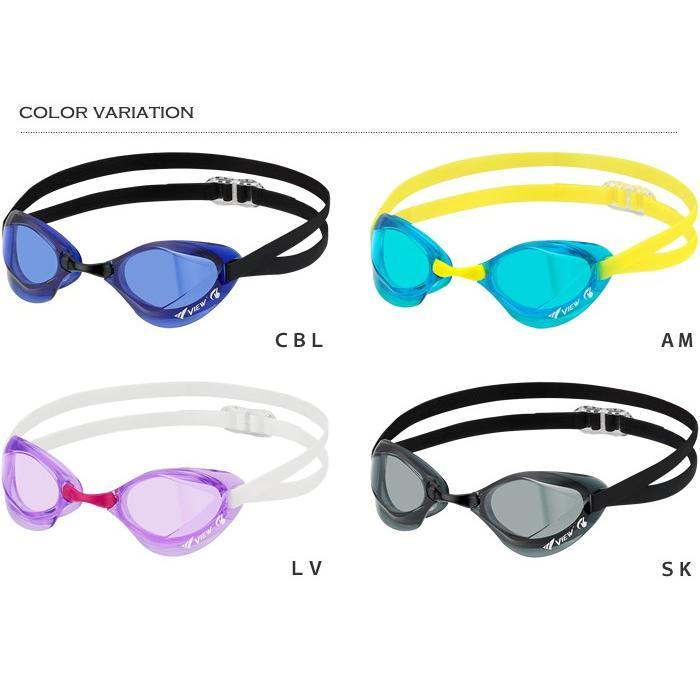 FINA承認モデル クッションなし 競泳用スイムゴーグル 水泳用 BladeF ブレードエフ VIEW(ビュー) V122SA|mizugi|02