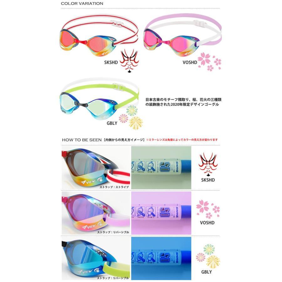 FINA承認モデル クッションなし 競泳用スイムゴーグル 水泳用 ミラーレンズ BladeF ブレードエフ VIEW(ビュー) V122TKY(数量限定デザイン) mizugi 02