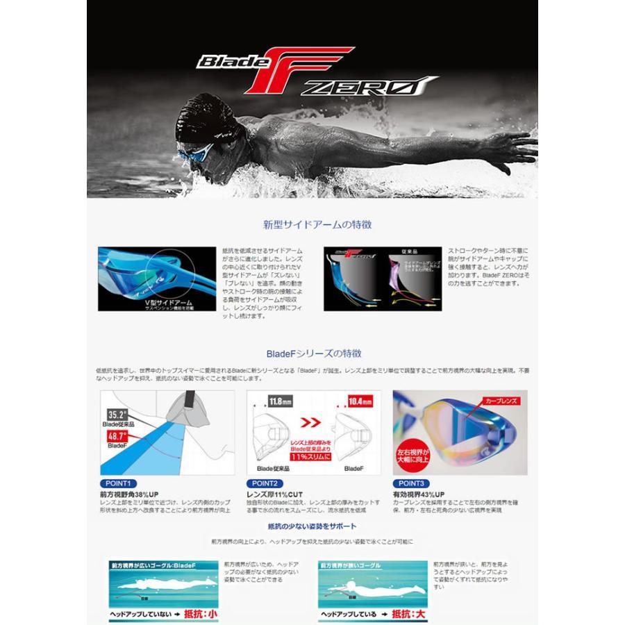 FINA承認モデル クッションなし 競泳用スイムゴーグル 水泳用 ミラーレンズ BladeF ZERO ブレードエフ ゼロ VIEW(ビュー) V128SAM mizugi 06