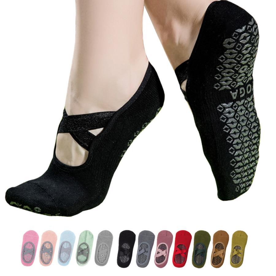 ヨガ ソックス ウェア 靴下 レディース 2タイプ シンプル 滑り止め付 おしゃれ かわいい 無地 クラシカル くつ下 ピラティス エクササイズ