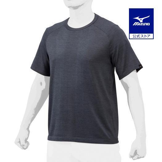 ミズノ公式 【ミズノプロ】ジャガードTシャツ ユニセックス ブラック
