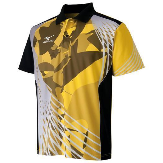 ミズノ公式 ドライサイエンスゲームシャツ 卓球 ユニセックス ブレイジングイエロー×ブラック