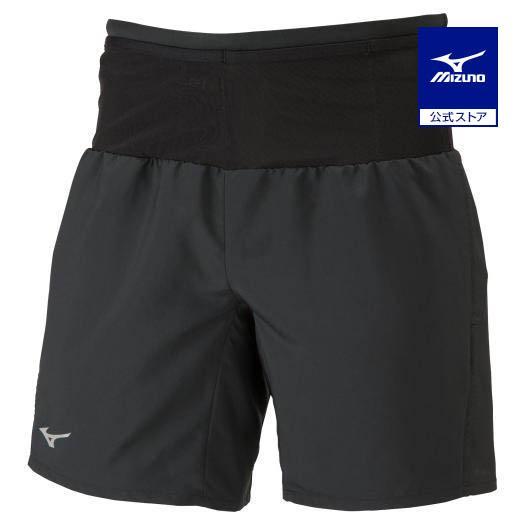 ミズノ公式 ランニングマルチポケットパンツプラス ユニセックス ブラック×ブラック
