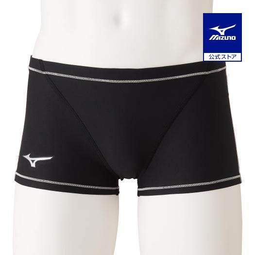 ミズノ公式 競泳練習用ショートスパッツ メンズ ブラック×シルバー