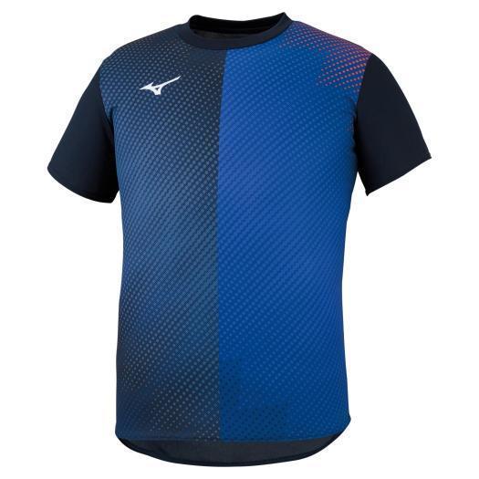 流行のアイテム ミズノ公式 プラクティスTシャツ ディープネイビー ユニセックス オリジナル