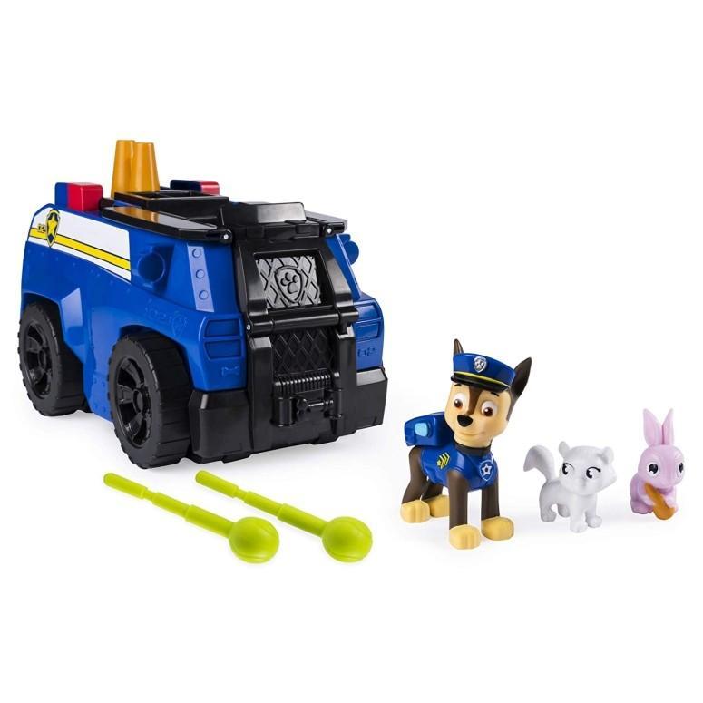 パウパトロール 犬のレスキュー隊 PAW Patrol フィギュア Paw Patrol, Chase's Ride 'n' Rescue, Transforming 2-in-1 Playset and Police Cruiser, for Kids