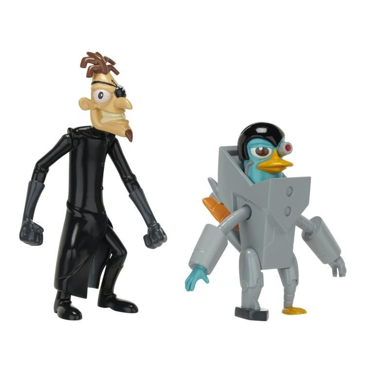 フィニアスとファーブ フィギュア Phineas And Ferb Figure Pack Assortment 5 - DCOM Platyborg And Dr. Doof (With Launching Fist)