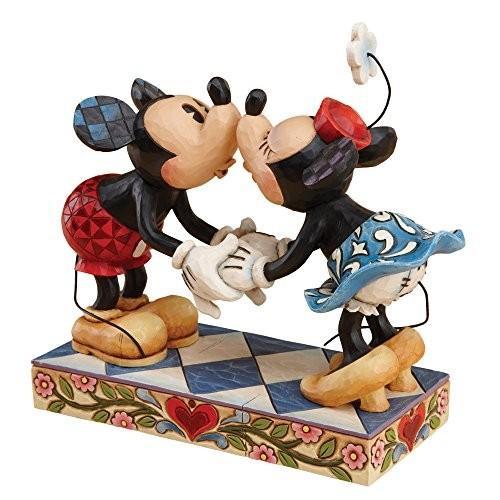 木彫り調 フィギュア ジム・ショア ジムショア ディズニー トラディショナル 4013989 ミッキー アンド ミニー マウス キス フィギュア 置物 6-1/2 インチ