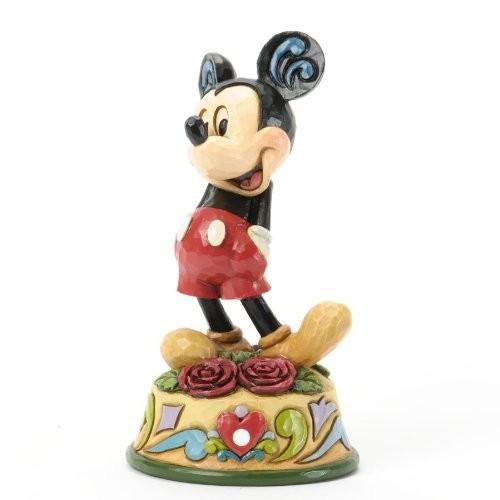 木彫り調 フィギュア エネスコ ジム・ショア ジムショア ディズニー トラディッション ミッキー ジューン 6月 フィギュア 置物 4 インチ Mickey June Figurine