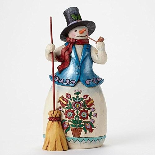 エネスコ ジム・ショア ジムショア スノーマン ウィズ パイプ パイプをくわえた雪だるま フィギュア 置物 8.125 インチ Snowman with Pipe Figurine, 8.125