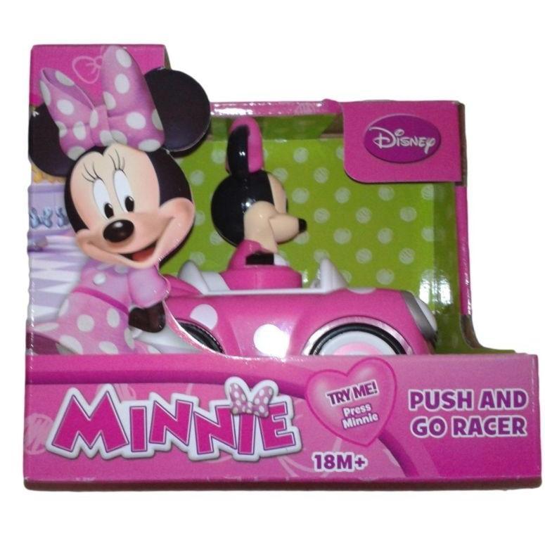 Disney ディズニー ミニーマウス プッシュ&ゴー レーサーカー 玩具 Minnie Mouse Push and Go Racer Car