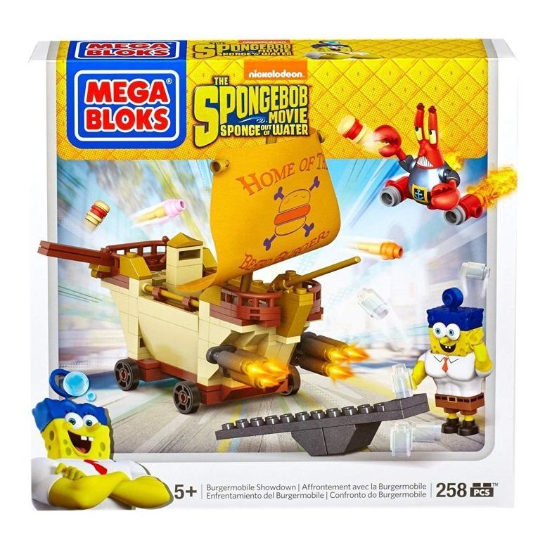 メガブロック スポンジボブ フィギュア Mega Bloks SpongeBob Burgermobile Showdown Building Set