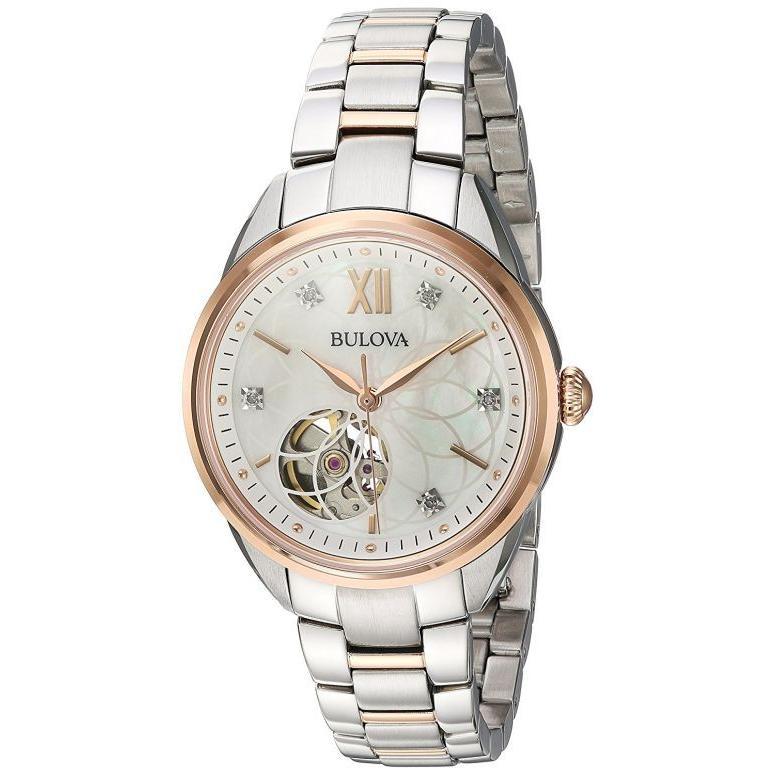 【信頼】 ブローバ Bulova レディース 女性用 ホワイト 腕時計 レディース 女性用 ウォッチ ホワイト 98P170, 紙プラザ:2dccb0c5 --- sonpurmela.online