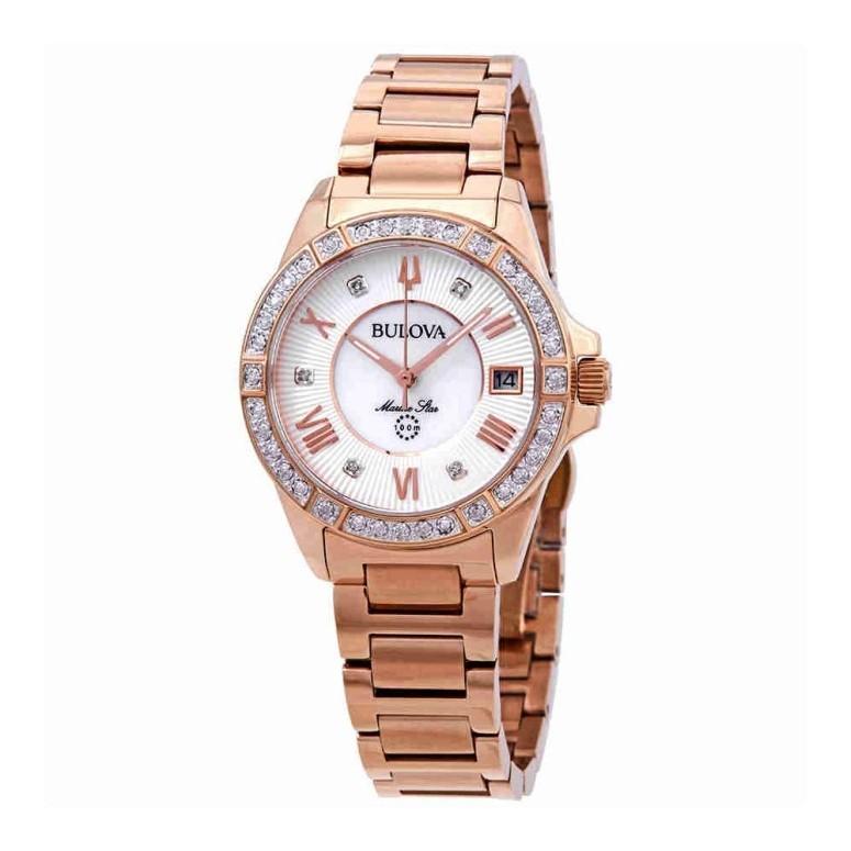 最新作 ブローバ Bulova 女性用 腕時計 レディース ウォッチ シルバー パール 98R258, GEKIROCK CLOTHING 32ee8f81