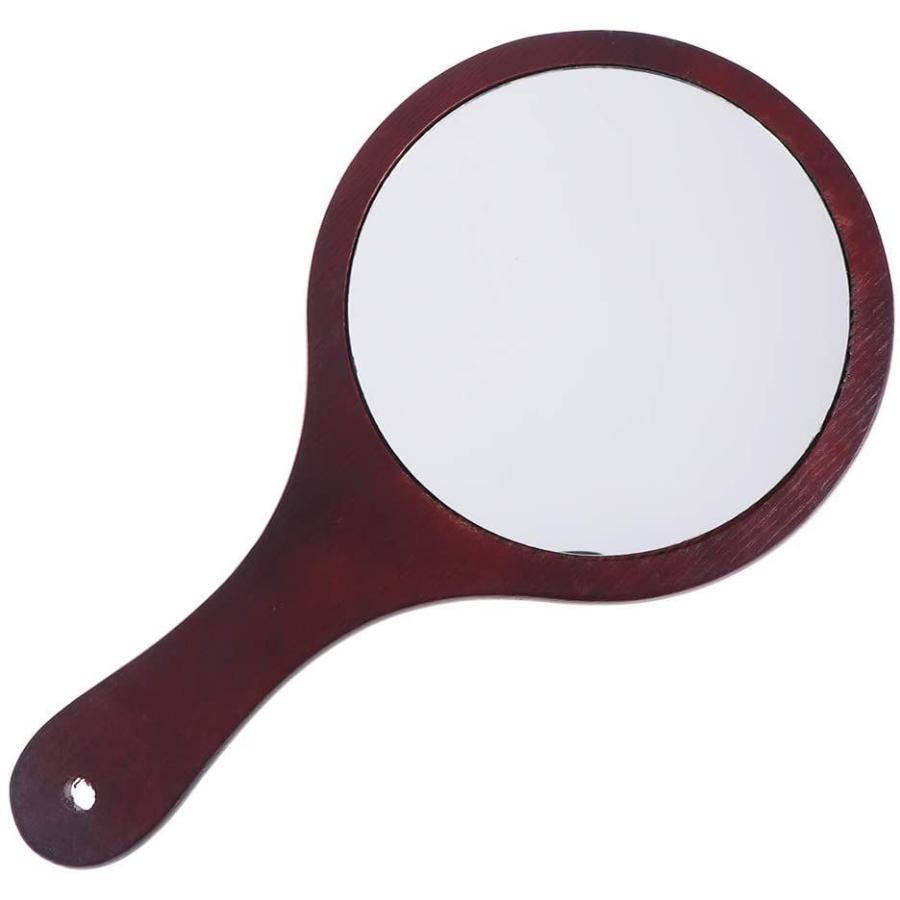 Frcolor ハンドミラー 木目調 手鏡 化粧鏡 携帯便利 手持ち メイクアップミラー かわいい おしゃれ(コーヒー)|mkbstore|04