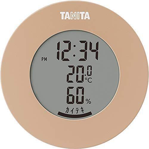 タニタ 温湿度計 温度 湿度 デジタル 時計付き マグネット BR 卓上 TT-585 引き出物 高級品 ライトブラウン