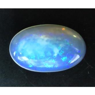 046 クリスタルオパール ルース 6.61ct 緑、青の遊色 オーストラリア : 瑞浪鉱物展示館 【送料無料】
