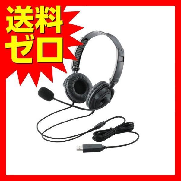 エレコム 絶品 HS-HP20UBK USBヘッドセット 年末年始大決算 両耳オーバーヘッド ELECOM 送料無料 ブラック