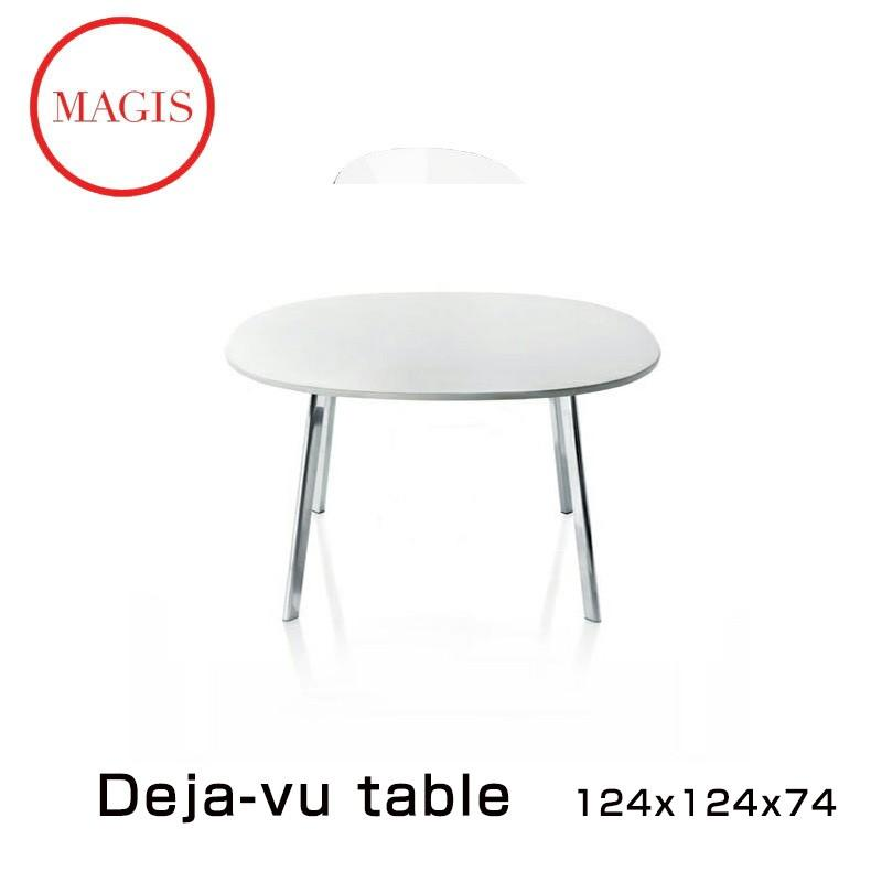 Deja-vu Table 124×124 デジャヴ テ−ブル TV835 (天板:ホワイト 脚:ポリッシュ) 代引き不可「NF」