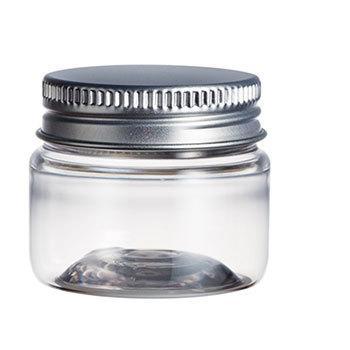 クリアプラジャー アルミキャップ 30ml 1個 クリーム 詰め替え容器 アトマイザー 大決算セール チープ 手作り化粧品 手作りコスメ
