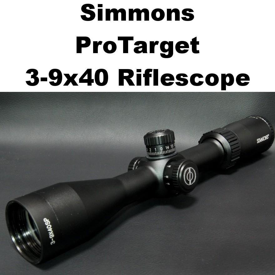 Simmons ProTarget 3-9x40 ライフル スコープ 453-668 Rimfire スナイパー リムファイア エアライフル