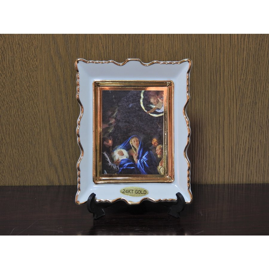 期間限定 キリスト様の誕生角皿 小 Christ#039;s birth plate S square ファクトリーアウトレット