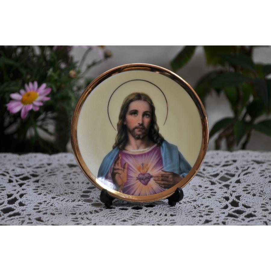キリスト 8.3cmD丸皿 小 quot; 賜物 JESUSquot; round plate オーナメント オブジェ 小物 アクセサリー 新品未使用 飾り 装飾品