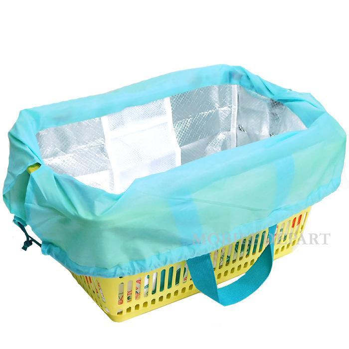 エコバッグ 保冷 折りたたみ 大容量 保冷バッグ レジカゴバッグ コンパクト 安い コンビニ マチ レジカゴ おしゃれ 巾着|mobadepa|04