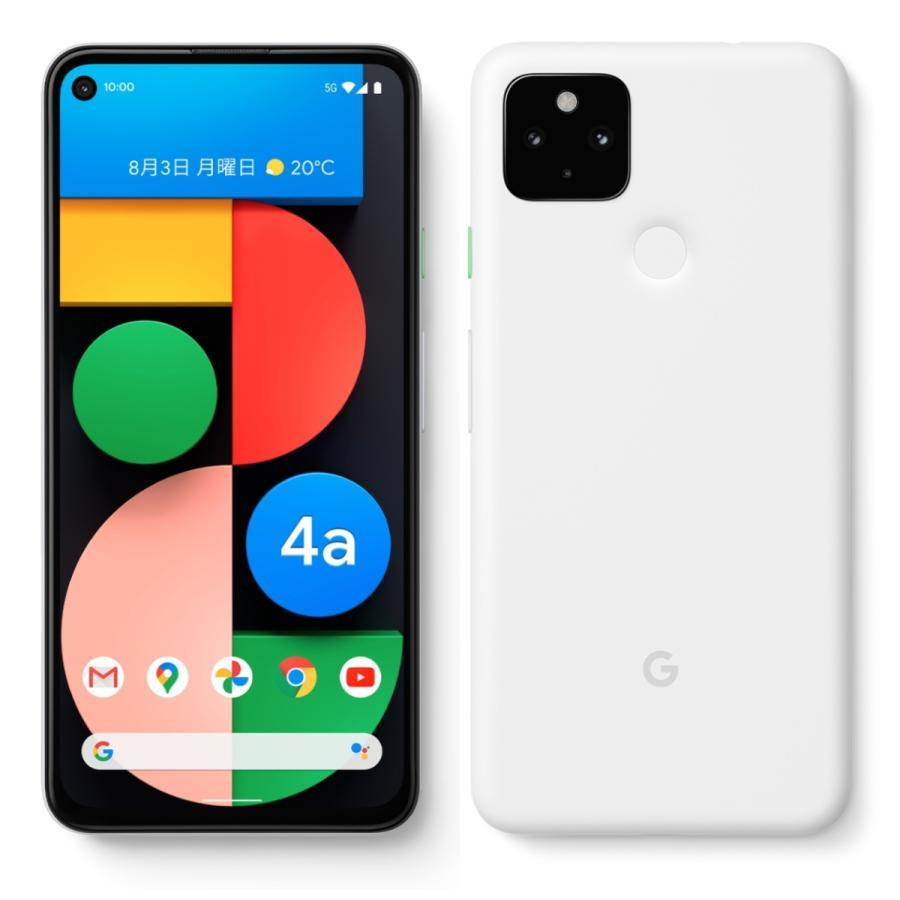 Google Pixel 4a サービス 5G対応 128GB 本体 G025H SIMフリー 新品未使用 赤ロム保証 一括購入品 Clearly 白ロム 5G Pixel4a ホワイト 正規SIMロック解除済み 特価 White