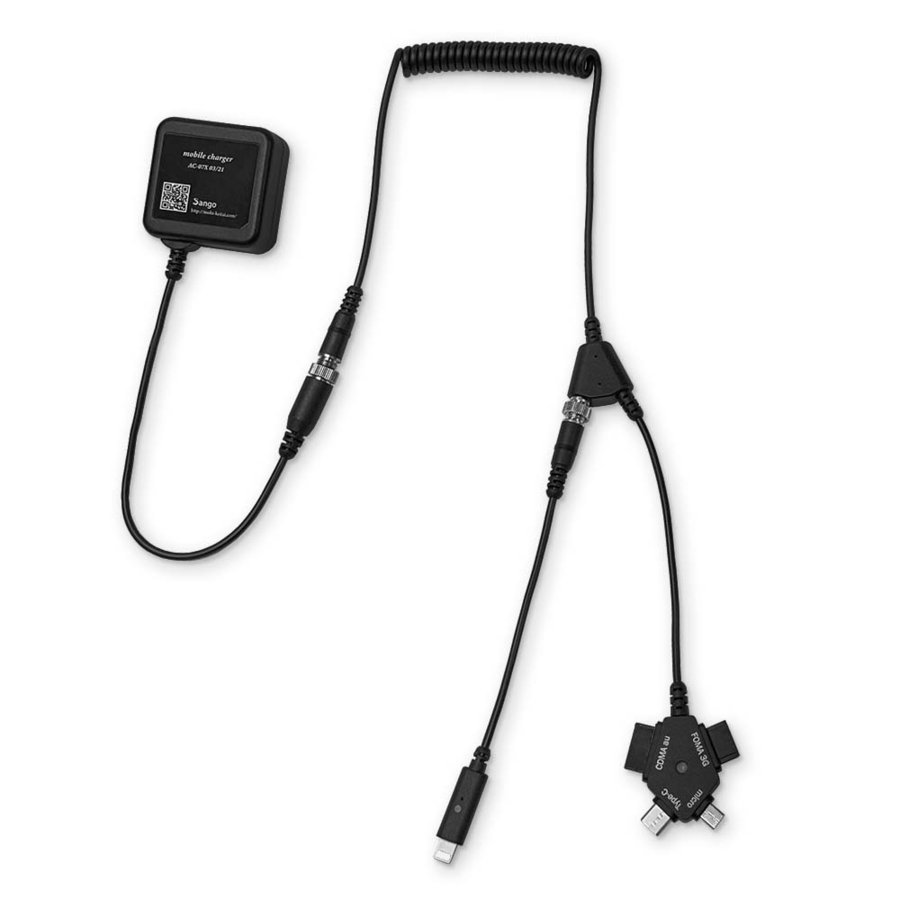 ケーブル交換型マルチ充電器 iPhone Android ガラケー対応:NIIセット mobi 02