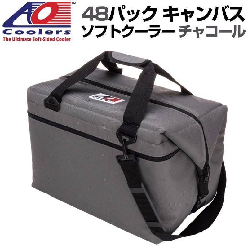 AO Coolers エーオークーラー 48パック キャンバス ソフトクーラー PACK CANVAS チャコール 保冷バッグ 軽量 アウトドア キャンプ 並行輸入 送料無料