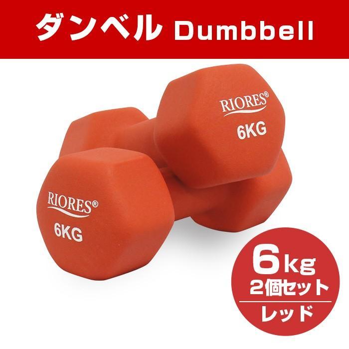 ダンベル 6kg 2個セット [送料無料] エクササイズ フィットネス ダイエット ストレッチ 鉄アレイ 6キロ 女性 男性|mobile-garage1