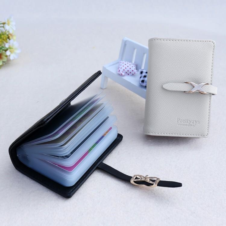 カード入れ ケース 大容量 レディース おしゃれ 二つ折り 40枚収納可能 診察券 ポイント IC 電子マネー クレジット カードホルダー 整理 黒|mobilebatteryampere|21