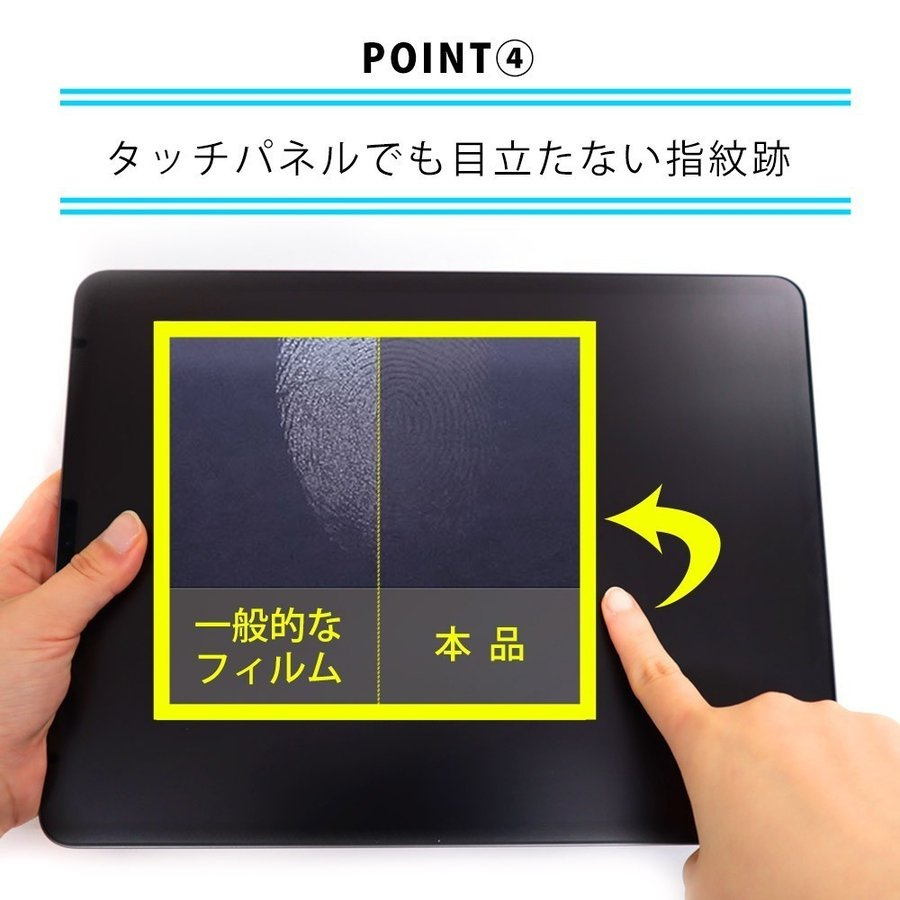 iPad Pro 12.9インチ (2021年 第5世代) 用  保護フィルム ノングレア液晶保護フィルム3 防指紋 反射防止 ギラつき防止 気泡消失 ASDEC NGB-IPA18|mobilefilm|16