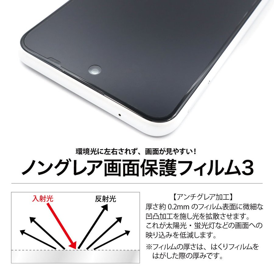 Galaxy A52 5G 保護フィルム ノングレア液晶保護フィルム3 防指紋 反射防止 ギラつき防止 気泡消失  ASDEC アスデック NGB-SC53B mobilefilm 11