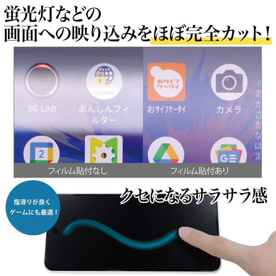 Galaxy S21+ 5G 保護フィルム ノングレア液晶保護フィルム3 防指紋 反射防止 ギラつき防止 気泡消失  ASDEC アスデック NGB-SCG10|mobilefilm|12