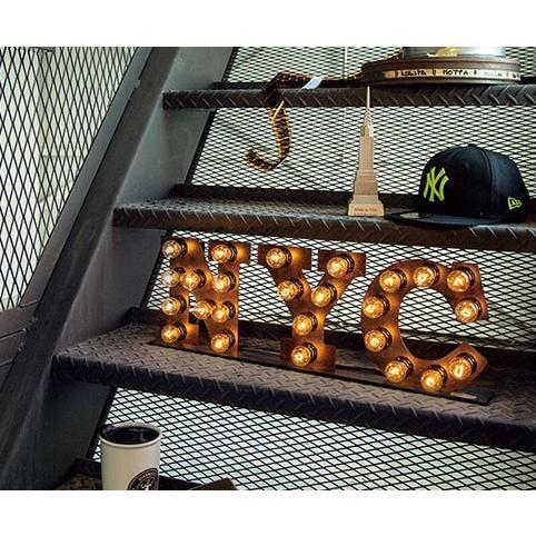NYC sign sign (ニューヨークシティーサイン)0400-li-AW-0402V