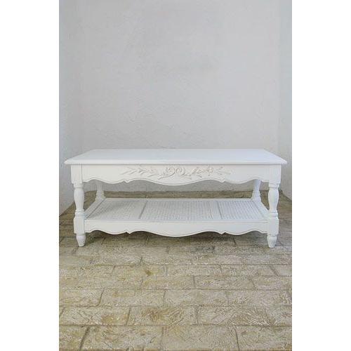 【ローテーブル】フランス家具 ホワイト家具  コーヒーテーブルFR-0121013