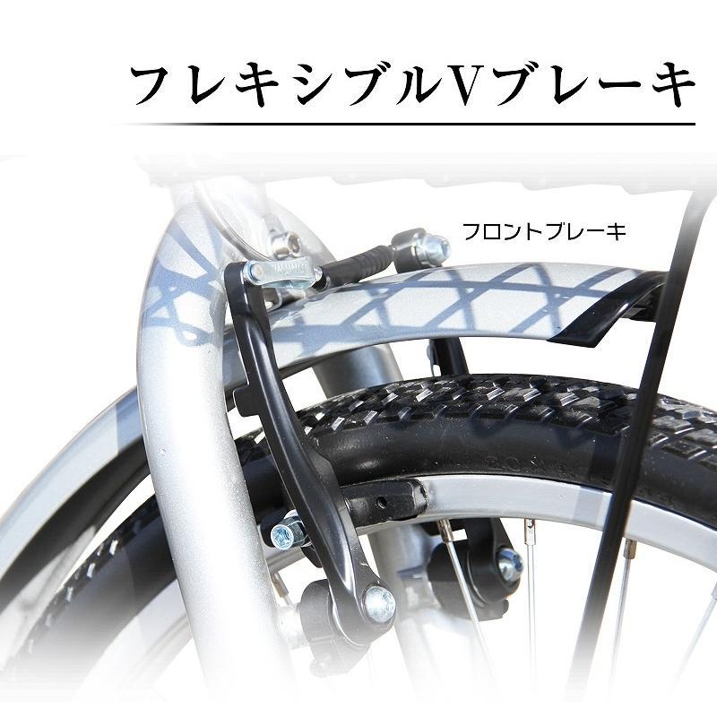 折りたたみ自転車 20インチ ノーパンクタイヤ カゴ付き シマノ6段ギア MOBI-CYCLE MB-05 自転車/折り畳み/カゴ付き|mobimax|14