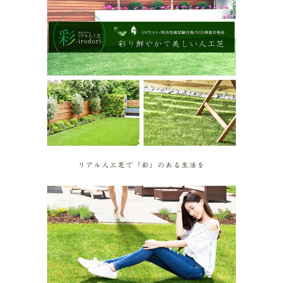 防炎リアル人工芝 [U字ピン20本入] 1m×10m 芝丈36mm [彩-IRODORI-] UV ロールタイプ人工芝 綺麗 高密度 高級 芝|mobimax|19