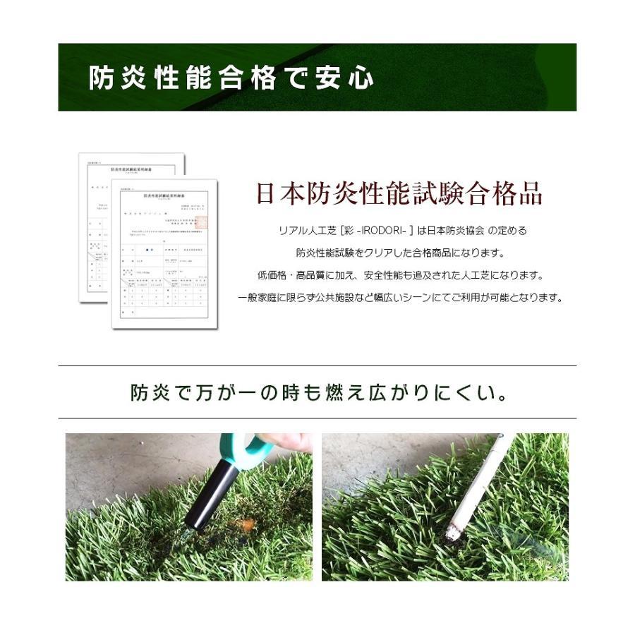 防炎リアル人工芝 [U字ピン20本入] 1m×10m 芝丈36mm [彩-IRODORI-] UV ロールタイプ人工芝 綺麗 高密度 高級 芝|mobimax|06