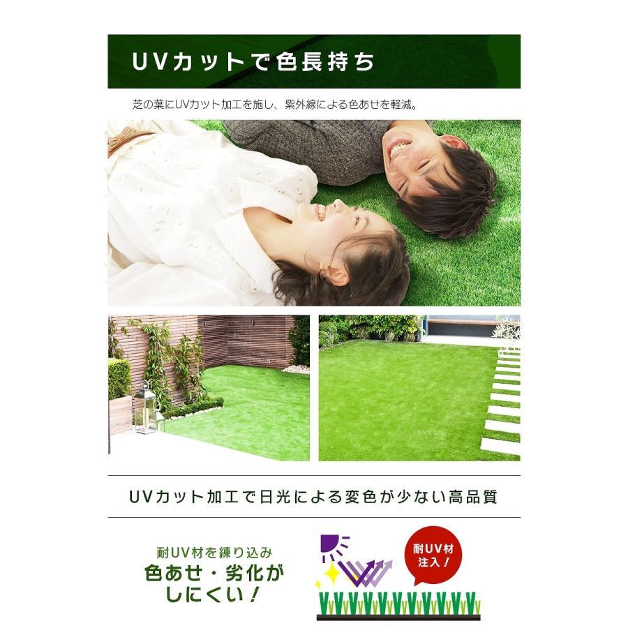 防炎リアル人工芝 [U字ピン20本入] 1m×10m 芝丈36mm [彩-IRODORI-] UV ロールタイプ人工芝 綺麗 高密度 高級 芝|mobimax|09