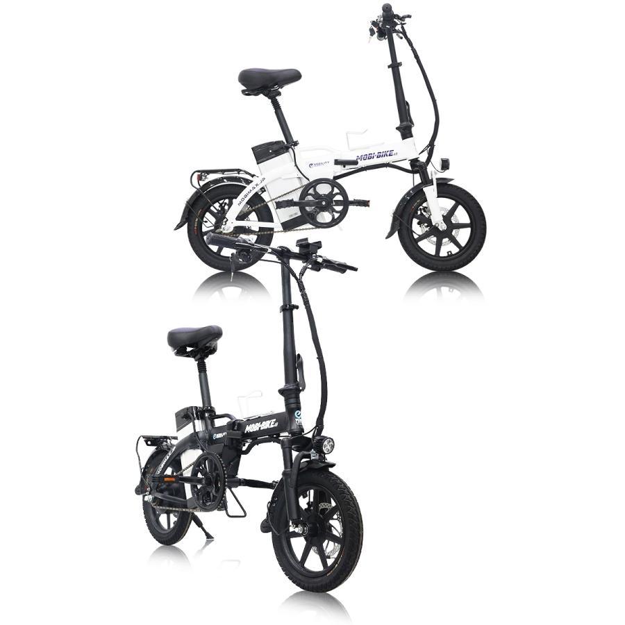 フル電動自転車 14インチ 折りたたみ サスペンション 大容量48V7.5Ahリチウムバッテリー アクセル付き電動自転車 モペット 【公道走行不可 [MOBI-BIKE] mobimax 04
