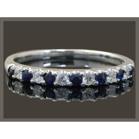今年も話題の エタニティリング リング K18 サファイア ダイヤモンド ハーフエタニティリング ラッピング無料 送料無料, 鵡川町 f49a4095