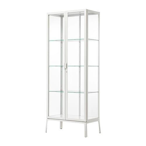 IKEA イケア MILSBO 未使用 103.964.25 ガラス扉キャビネット ホワイト 倉庫
