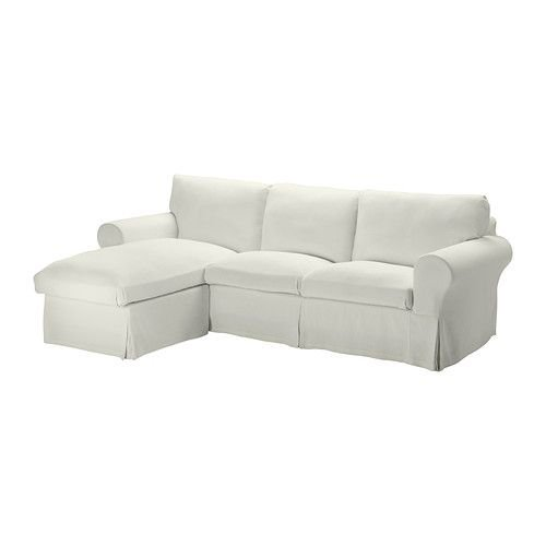 IKEA・イケア ソファ EKTORP 2人掛けソファ&寝椅子, ステノーサ ステノーサ ホワイト (190.065.73)